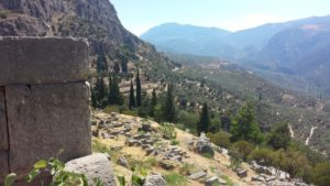 Looking down the mountainside from Delphi