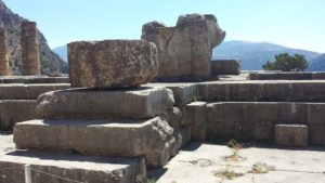 The location where the Delphic Oracle sat to deliver her prophecies