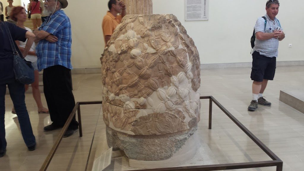 Another Omphalos from Delphi, this one on exhibit in the museum.