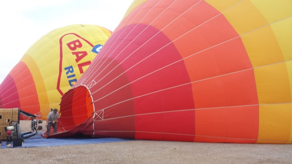Inflating the balloon. These suckers are huge!