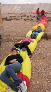 This balloon-riding stuff is hard work. We need a nap!